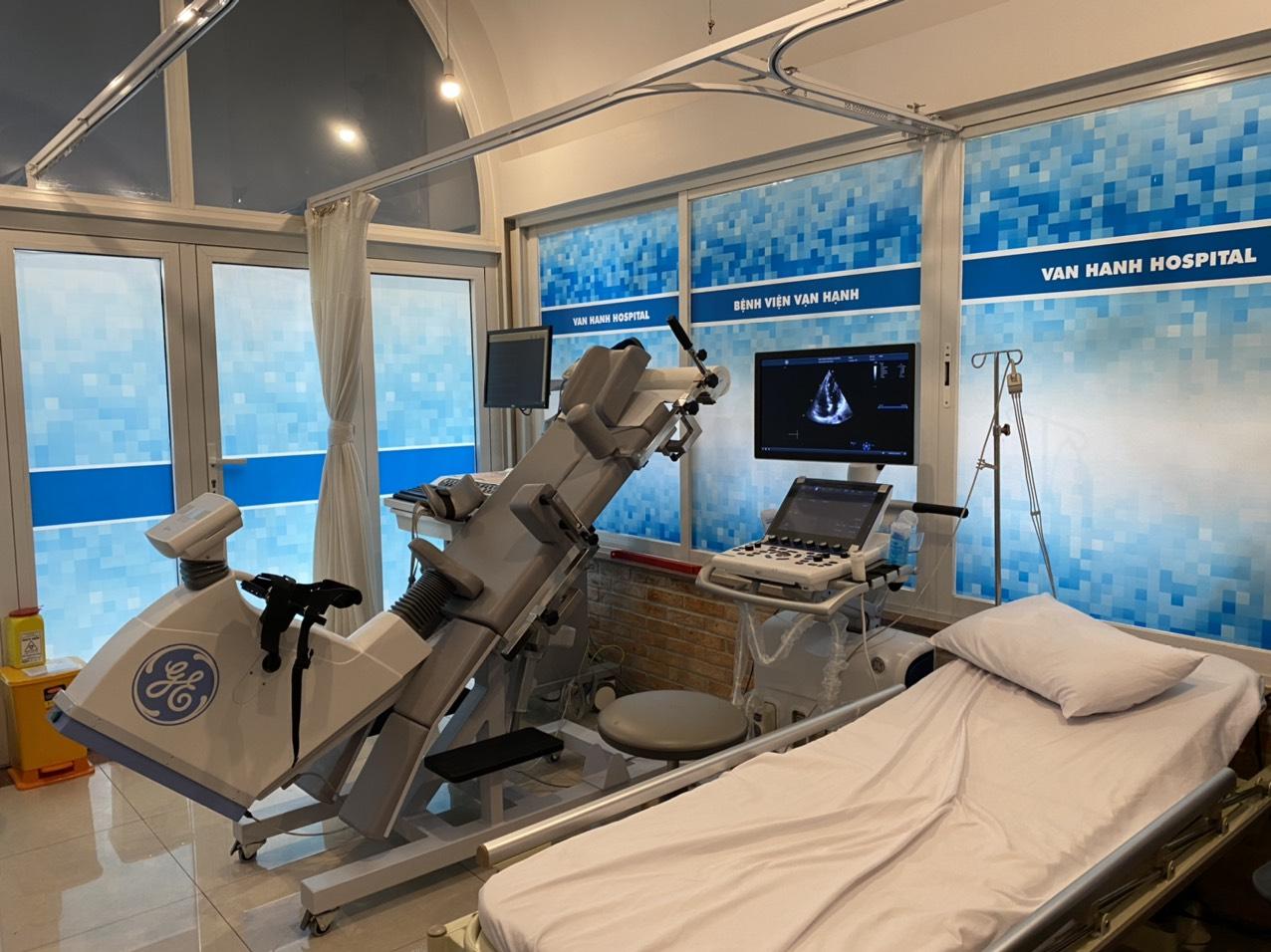 Điện Tim gắng sức khoa tim mạch bệnh viện đa khoa Vạn Hạnh
